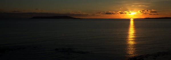 sunset over weymouth bay - photo